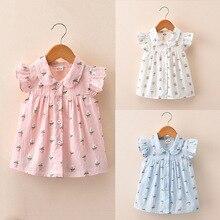 Детская одежда новые летние детские рубашки с короткими рукавами и цветочным принтом для девочек