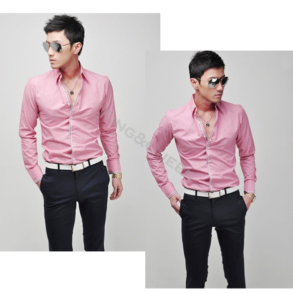 2014 New Korean Casual Men's Fashion Stylish Casual Slim Fit Long ...