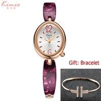 KIMIO Top Brand Women Bracelet Wristwatches Fashion Dress Quartz Ladies Watch Oval Dial Gold Casual Girl