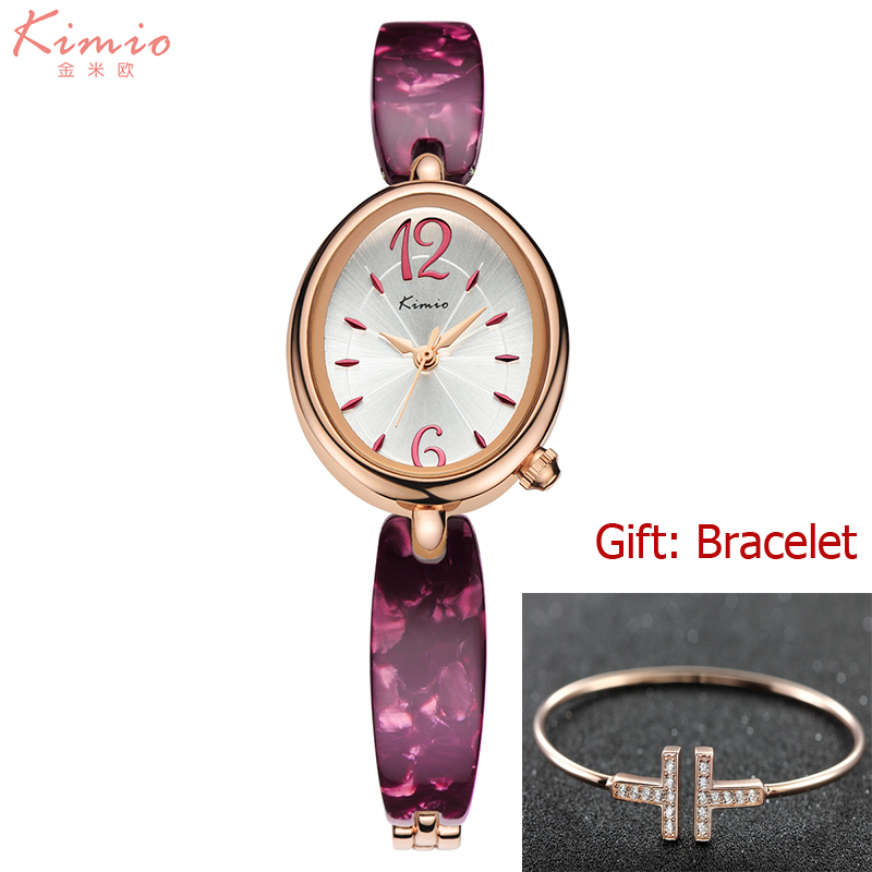 KIMIO reloj mujer Women Bracelet Watches Fashion Dress Quartz Ladies Watch Clock Oval Dial Casual Girl Watch with Gift Box kimio brand bracelet watches women reloj mujer luxury rose gold business casual ladies digital dial clock quartz wristwatch hot page 7