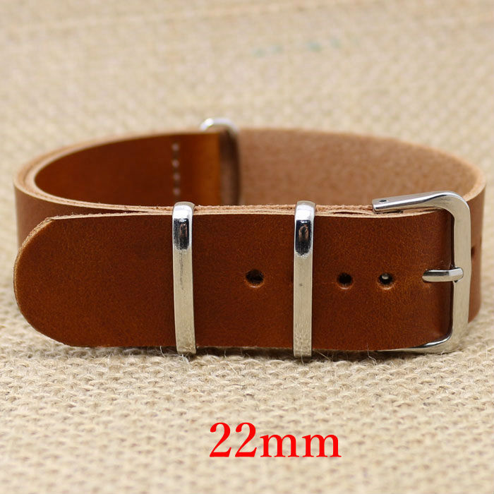 Watch Band 22mm Light Brown Leather Strap for Hours With Pin Buckle PD012722 eache silicone watch band strap replacement watch band can fit for swatch 17mm 19mm men women