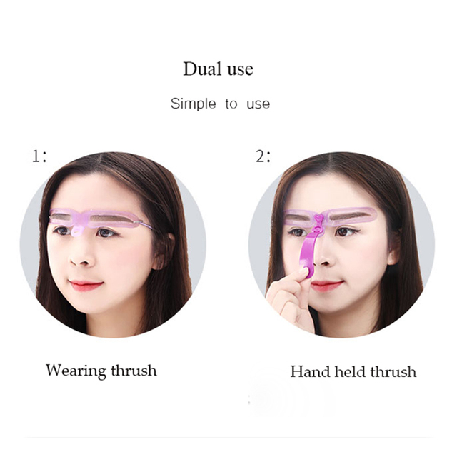8 Kinds Reusable Eyebrow Stencil eyebrow ruler Cosmetics Eye Brow shape Mold Styling Shaping Template Card Makeup Beauty Kit 4