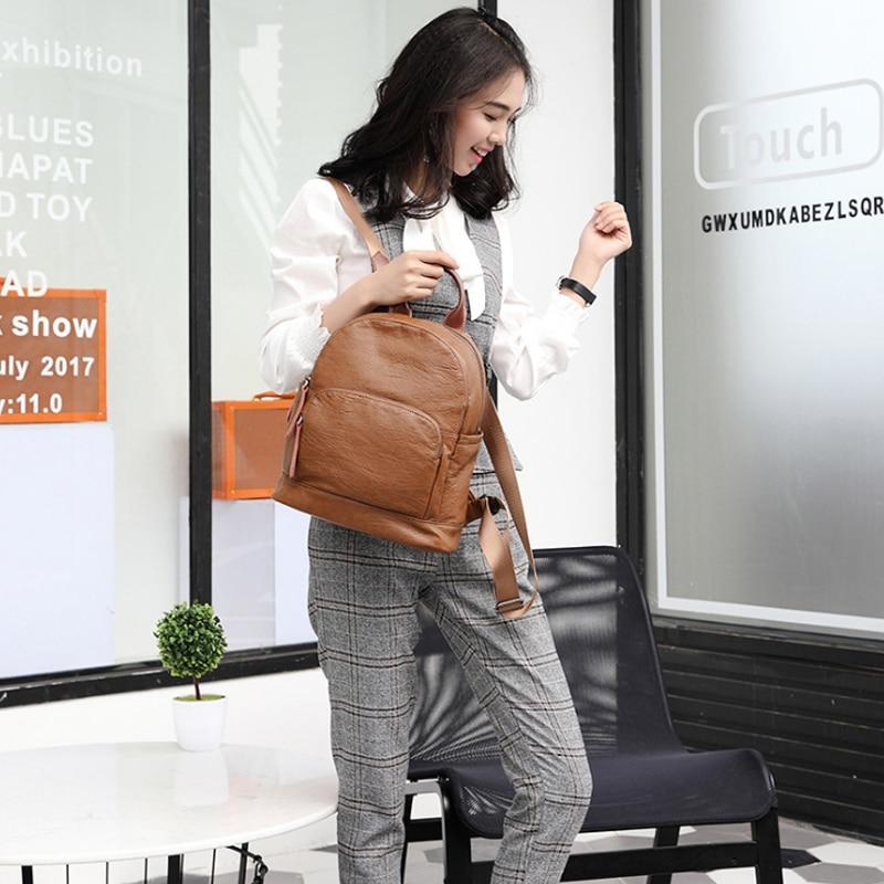 Fashion Women Backpack High Quality Youth Leather Backpacks for Teenage Girls Female School Shoulder Bag цена