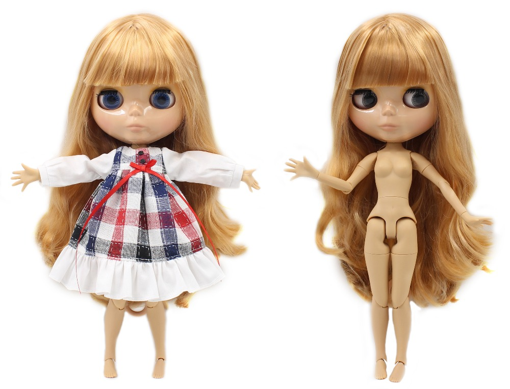 Neo Blythe Doll with Blonde Hair, Tan Skin, Shiny Face & Jointed Body 1