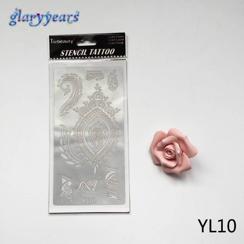 body stencil template tattoo mehndi painting airbrush henna pc flower stencils temporary glitter
