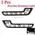 1 Pair 12 LED Universal DRL Led ABS Luzes Diurnas Good Day Montagem luz de Nevoeiro Lâmpada do Bulbo Branco Para VW Toyota