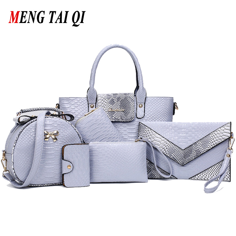 Women Bag 2016 Leather font b Handbag b font Shoulder Bags Ladies Totes Large Capacity Composite