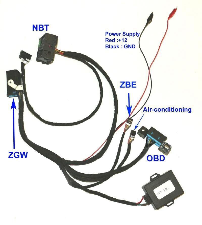 Emulador de ignición para BMW F01 F02 F10 F18 F25 Fxx NBT a ZGW para CAS4 emulador de ignición para Fxx NBT probador de ignición