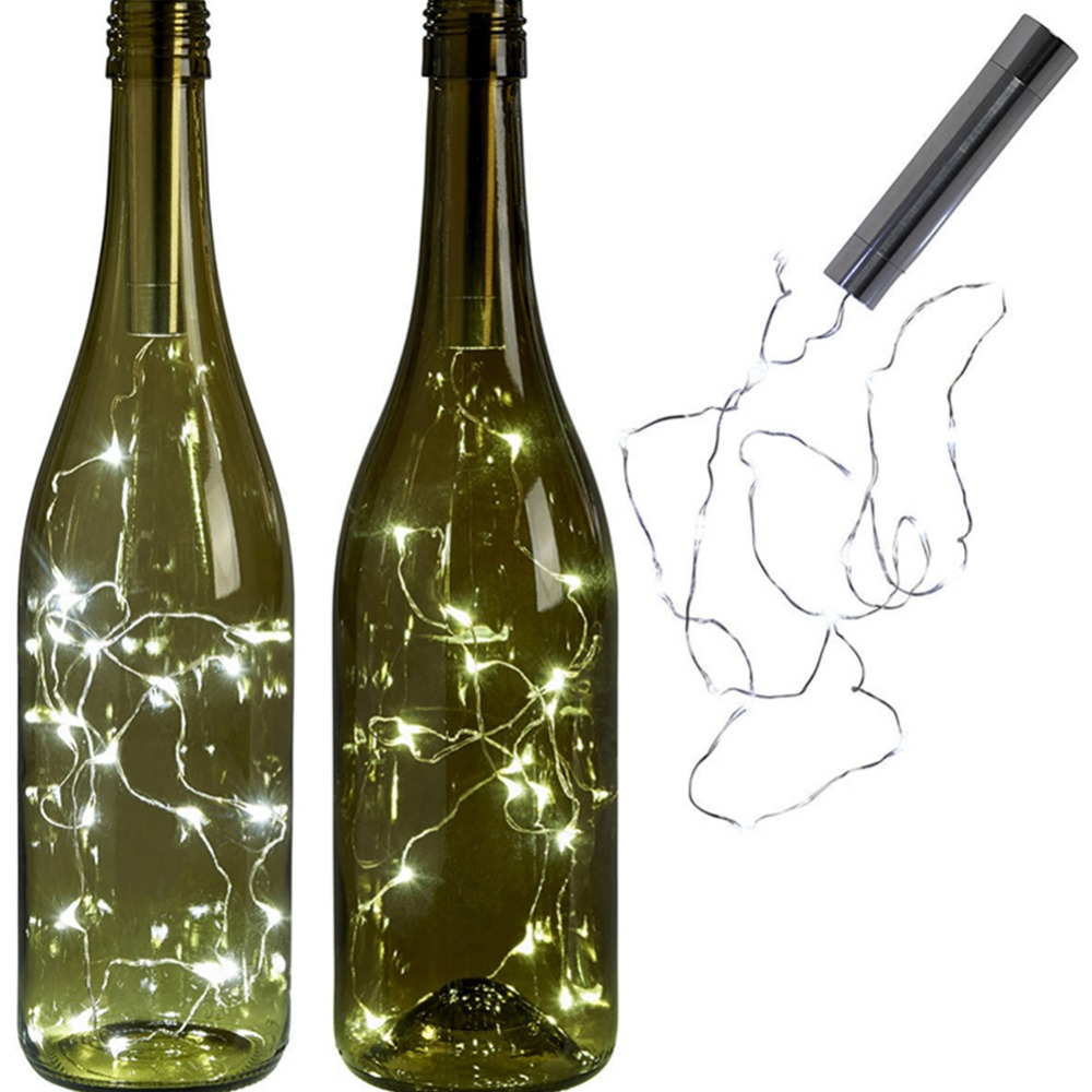 LumiParty 2M Copper Wine Bottle Light LED String Lights Battery Powered For Fairy Christmas Tree Wedding Party Bar Decoration