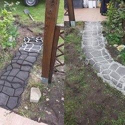 Domu ogród DIY praktyczne trwałe wielokrotnego użytku geometryczny kształt osobowości kamień bruk dekoracyjny do formy 2019 nowe Top