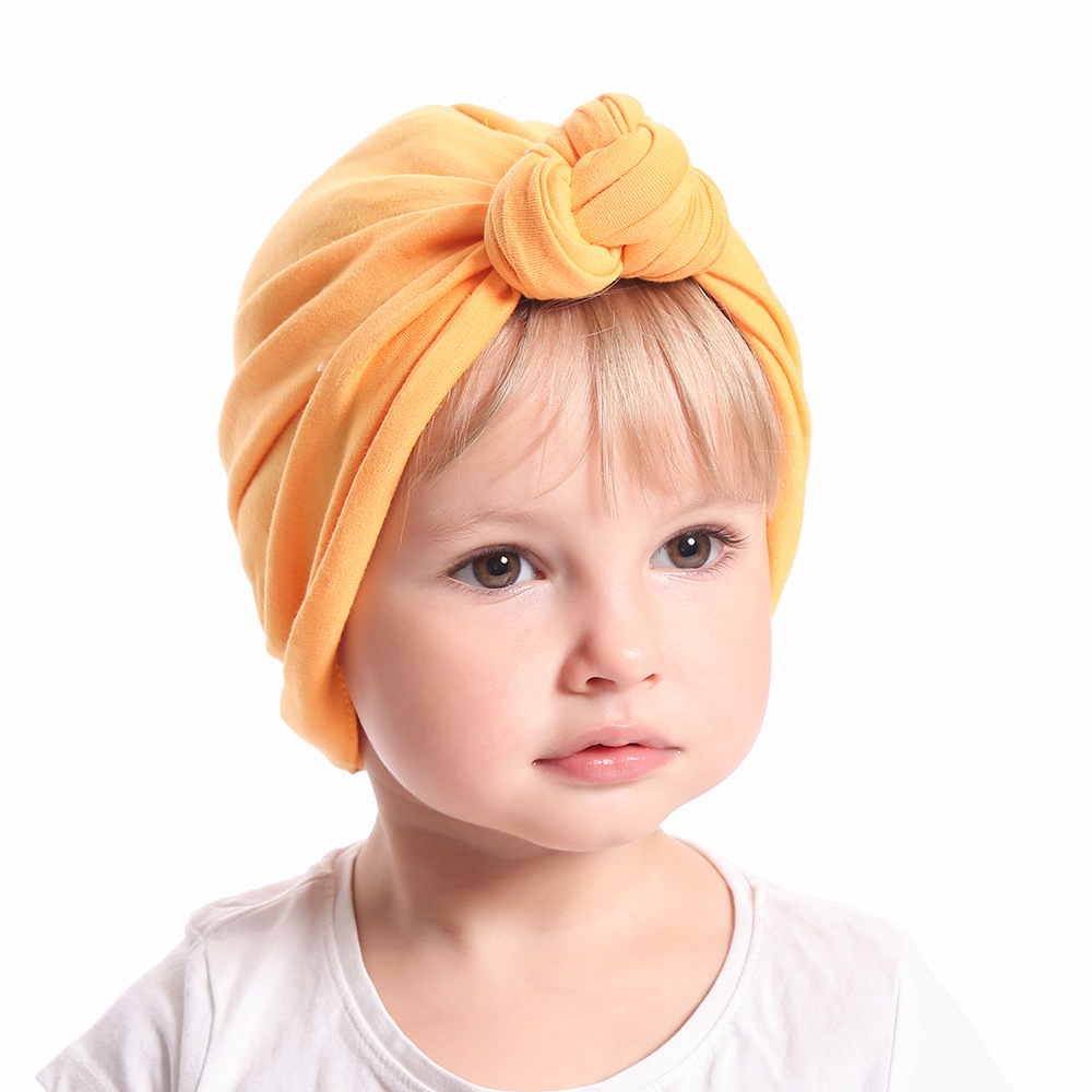New cute knot baby girls kids turban headbands solid hood hat   headwear   Infant Accessories for children turban headwrap headdress