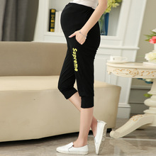 Maternity shorts sports Capris for Pregnant Women Comfortable Pregnancy Pants Plus Size Clothing Maternity Wear Clothes