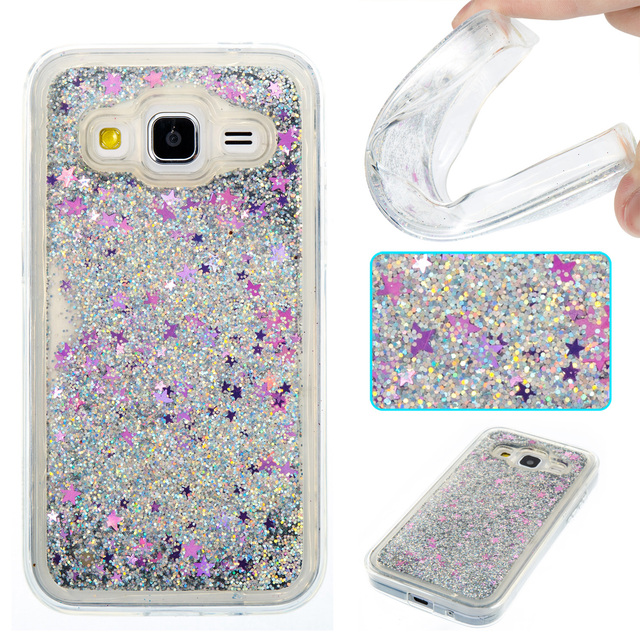 newest 43e12 f7dc9 US $3.84 |Luxury For Case Samsung Galaxy Core Prime G360 G360H G360F 3D  Star Quicksand Back Cover For Coque Samsung Galaxy Core Prime G360-in  Fitted ...