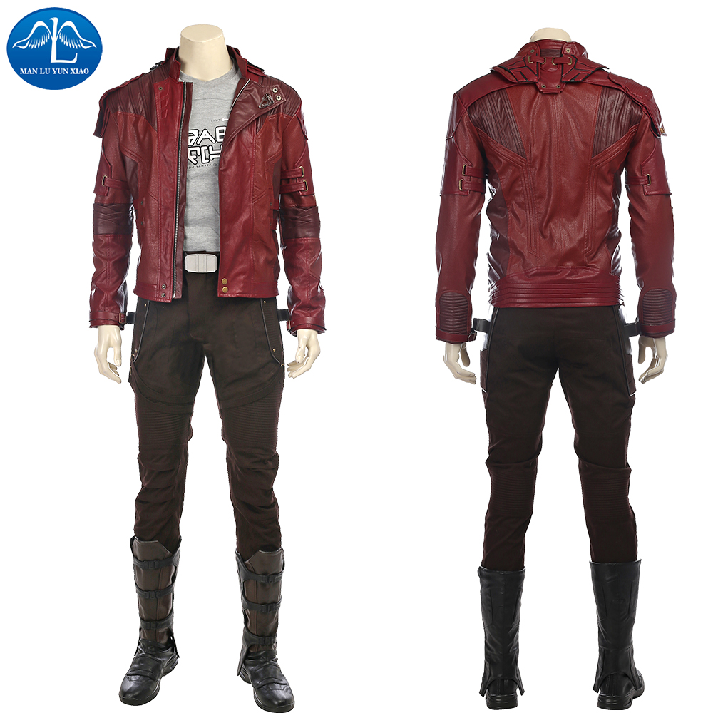 Здесь продается  MANLUYUNXIAO Guardians of The Galaxy 2 Cosplay Costume Star Lord Cosplay Costume Full Suit Peter Quill Cosplay Custom Made  Одежда и аксессуары