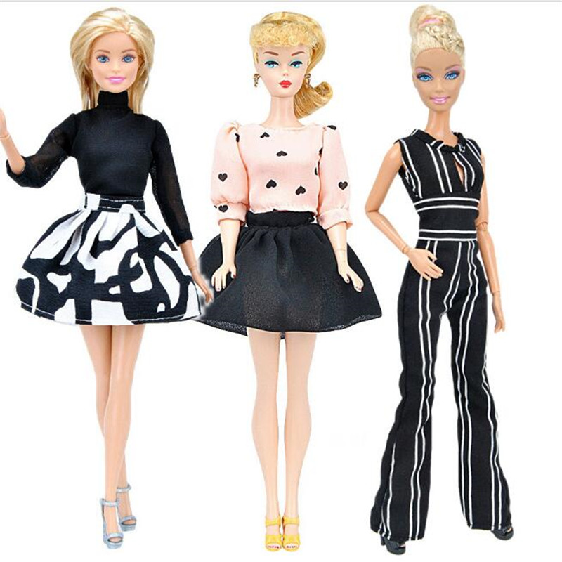 CXZYKING Fashion Handmade Barbie Clothes Accessories For Barbie Dolls Dress Suits Clothes For Toys For Girls Outwear Costumes original for barbie dolls clothes fashionable casual dress suit free shipping barbie furniture accessories