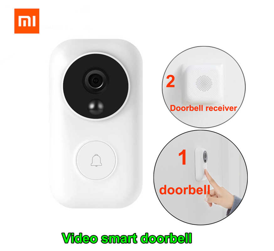 Xiaomi Nol Ai Identifikasi Wajah Bel Pintu Set Malam Video Motion Detection Wifi Self-POWER-Menghasilkan Bel Pintu Nirkabel