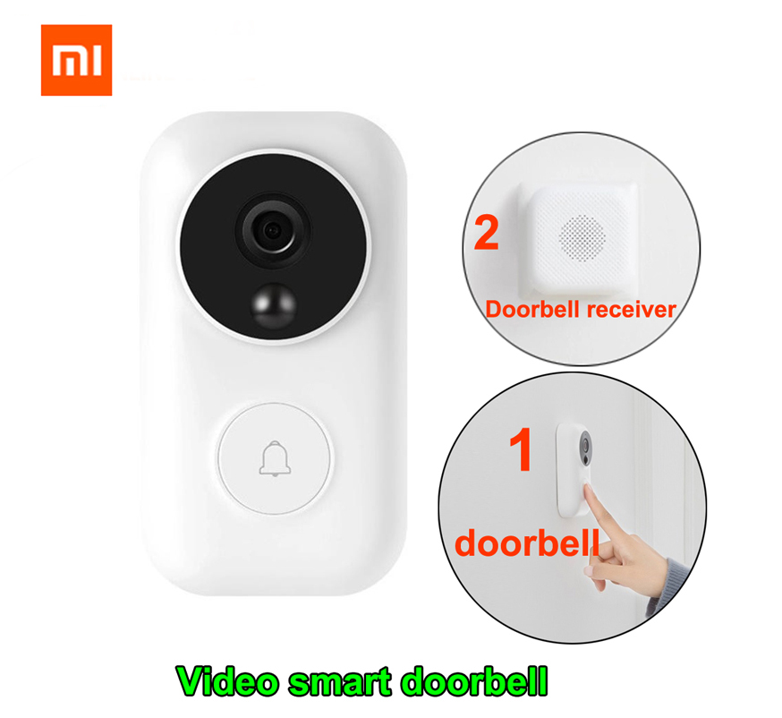 Xiaomi Zero AI Face Identification Doorbell Set  IR Night  Video Motion Detection WIFI Self-power-generating Wireless Doorbell