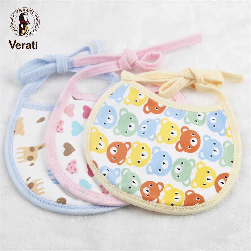 VERATI Baby Bib Newborn Saliva Towel Soft Cotton Baby Bibs Baby Multi-color Baby Print Accessories Pattern Random Delivery V092 ...