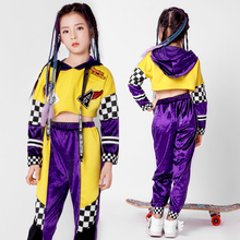 New girls hip-hop set children hiphop long-sleeved dance clothes jazz costumes tide