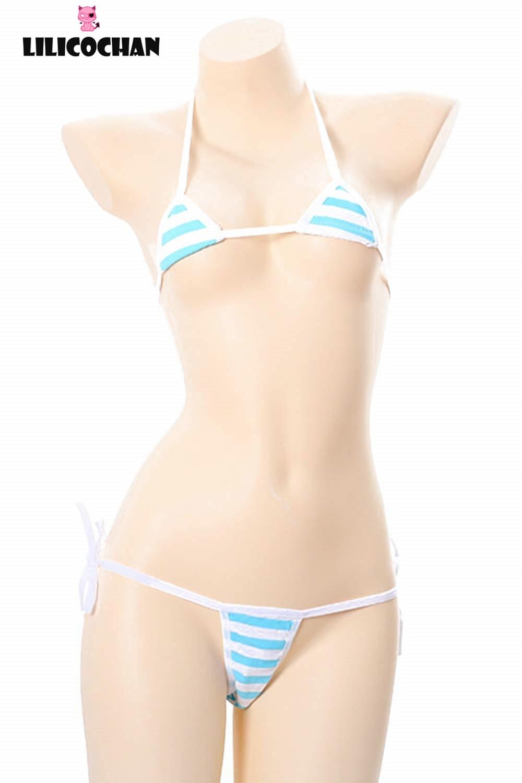 Милый кавайный японский стиль сексуальные полосатые хлопковые трусики бикини нижнее белье для косплея 13