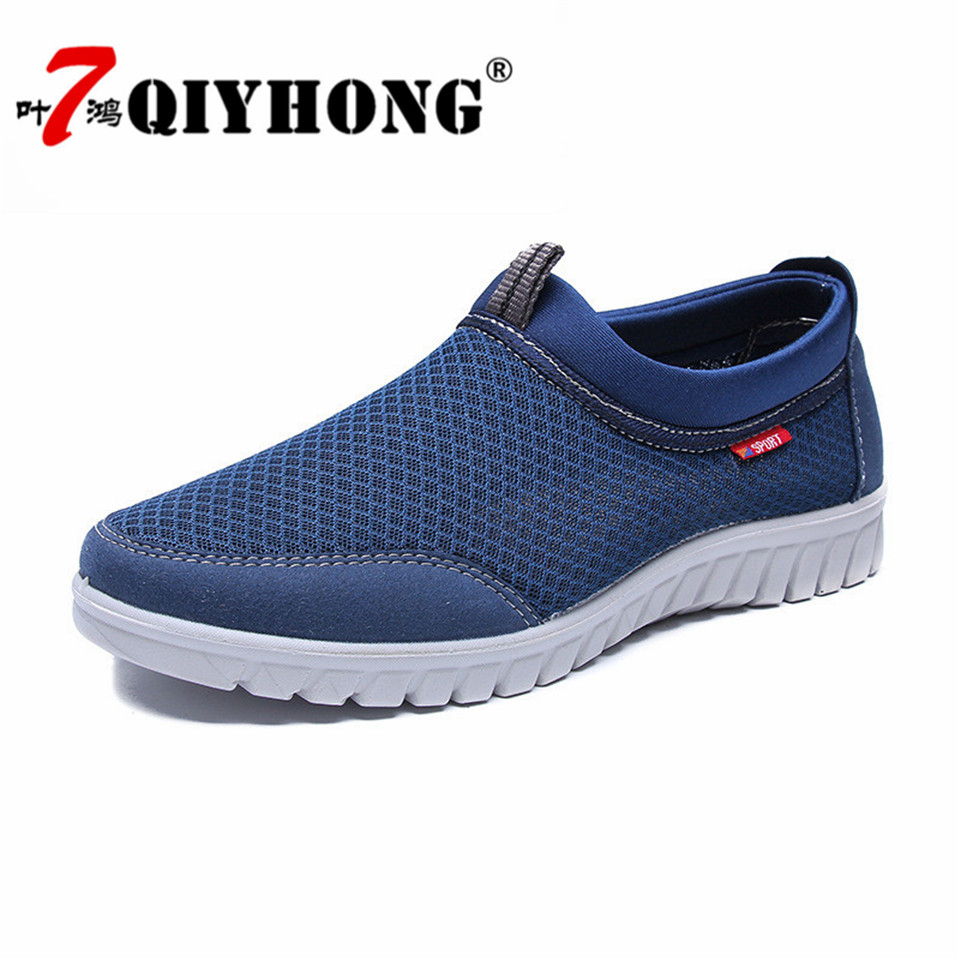 Sneakers Men 39 s Summer Autumn Shoes Casual Shoes Mesh Breathable Loafers Slip on Footwear Walking Outdoor Shoes Breathable Shoes in Men 39 s Casual Shoes from Shoes