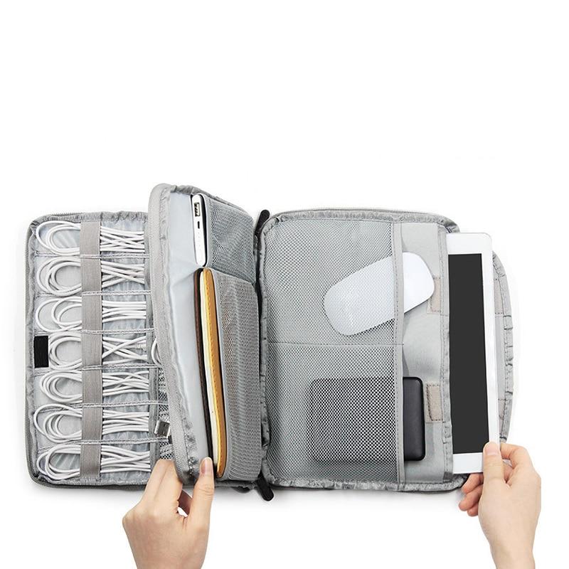 Multifunction Digital Bag USB Data Cable Earphone Wire Pen Power Bank Organizer Portable Travel Zipper Kit Gear Case Accessories