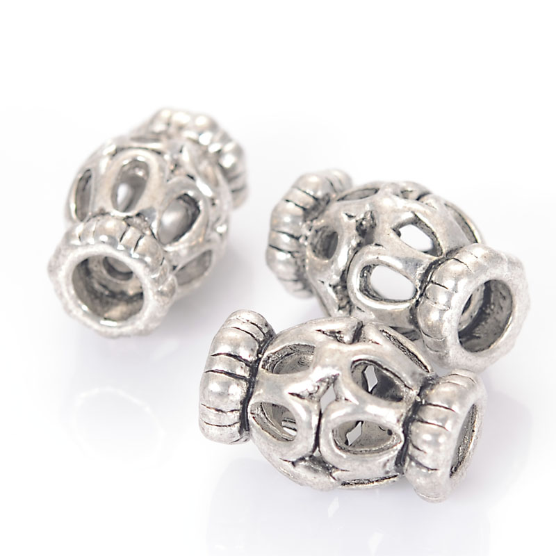 Retro Vintage Metal Zinc Alloy Cast Hollow Antique Design Beads Charm For Diy Handmade Jewelry Making Findings Accessories