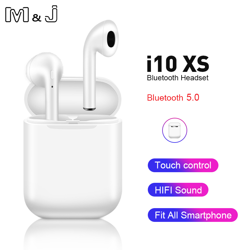 <font><b>i10</b></font> xs <font><b>tws</b></font> <font><b>Wireless</b></font> <font><b>Bluetooth</b></font> <font><b>5.0</b></font> Earphone <font><b>i10</b></font> <font><b>tws</b></font> Stereo <font><b>Earbuds</b></font> Headset with Charging Box for Apple iPhone xiaomi image