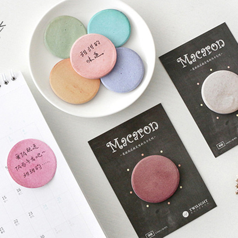 8 pcs/Lot Mini Macaron memo pad Sweet cookie sticky note Vintage color post diary sticker planner Office School supplies F693