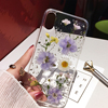Qianliyao Dried Flower Silver foil Clear Phone Cases For iPhone 12 11 Pro Max XS Max XR X 6 6S 7 8 Plus SE Soft Silicone Cover