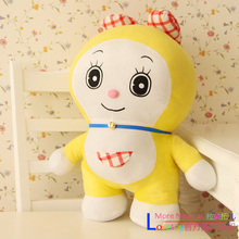 cute small plush yellow doraemon toy lovely cartoon doraemon sister doll gift about 40cm