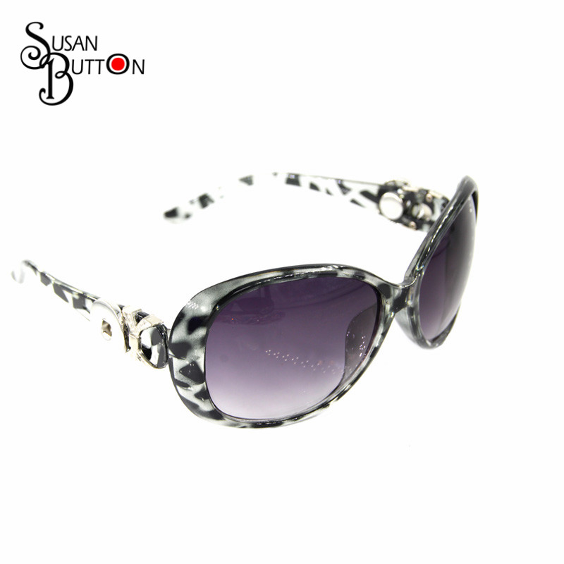 5pcs/lots Fashion Woman Classic Big Frame Leopard print Sunglasses Custom Snap Button Sunglasses Polarized Sun Glasses SJSB1674