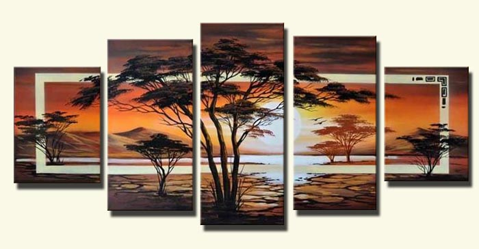 African Impression 100% Handmade Modern Abstract  Oil  Painting on Canvas Wall Art Gift Home Decoration No Framed JYJLV243