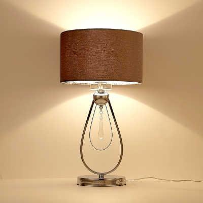 30x58 см Led Настольная лампа серебро роскошные настольные лампы для отеля в форме капли фланель абажур современный кристалл настольная лампа для Спальня