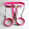 Male Chastity Belt+leg Ring+Anal Plug Stainless Steel Male Chastity Device Penis Ring Sex Slave Fetish Sex Toys for Men G4-11