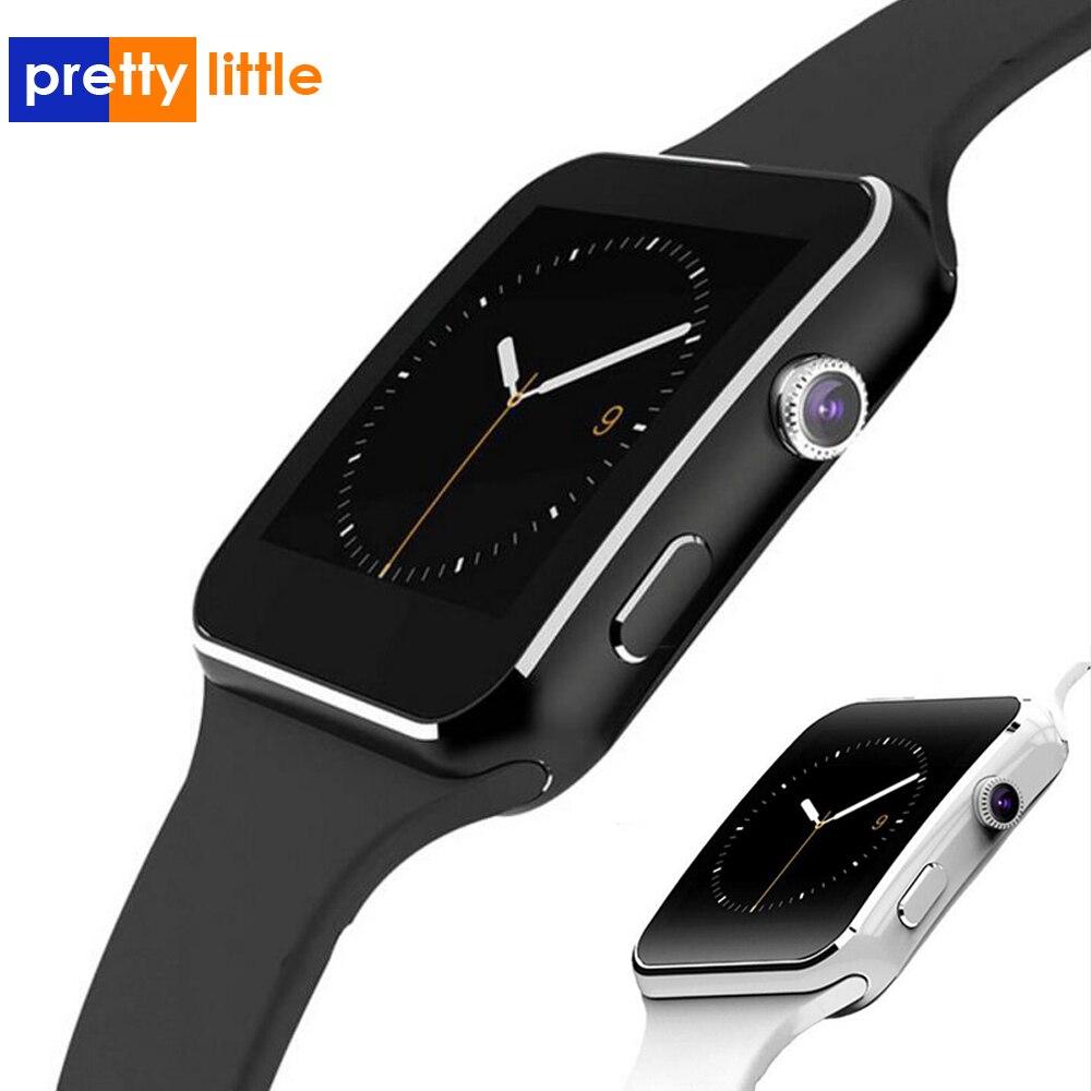 Bluetooth relógio inteligente x6 esporte passometer smartwatch com câmera suporte sim cartão whatsapp facebook para android telefone