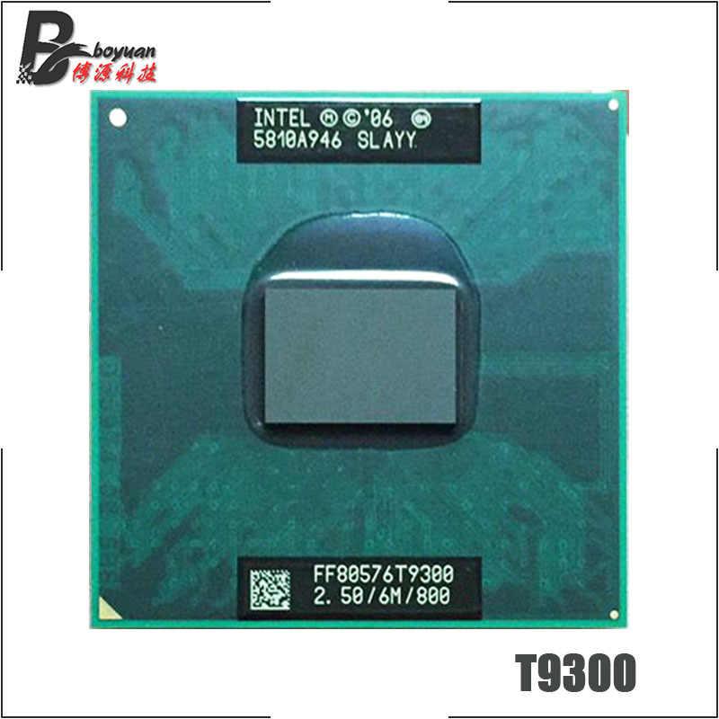 Intel Core 2 Duo T9300 SLAQG SLAYY 2,5 GHz Dual-Core, doble-hilo CPU, procesador 6M 35W Socket P
