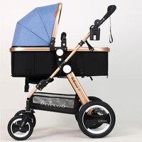 Роскошные Детские коляски легкие детские коляски Детские коляски Traval коляска для 6 36 месяцев, Kinderwagen, bebek arabasi