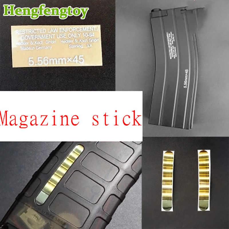 هلام الكرة البنادق nerfie pmag jinming 168 ندبة m4 مجلة HK416 المعادن لصق ملصقات ديي