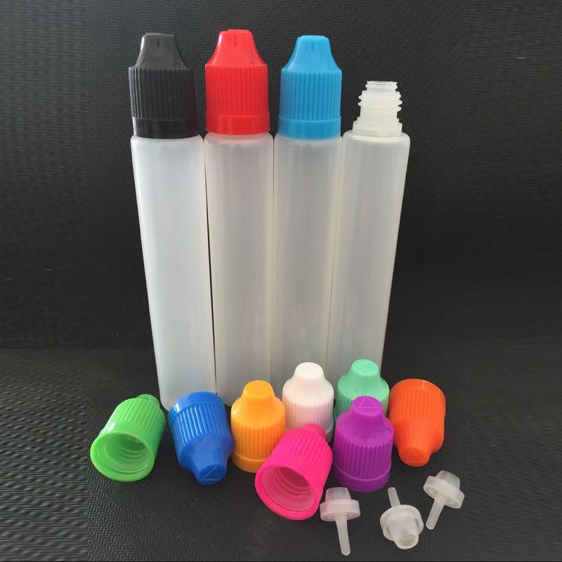 b007a7e3192 30ml E Liquid Bottles 30ml Long Style Pen Shape Bottles with Child Proof  Caps and fine Tips