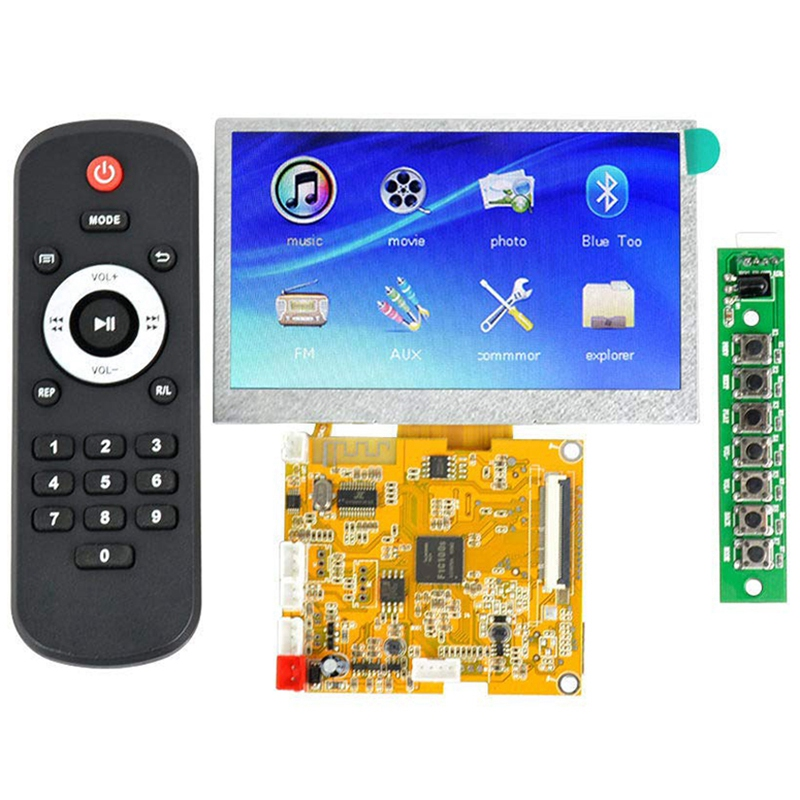 5V Lossless Bluetooth 4.3 Inch Lcd Bluetooth Decoder Dts Flac Ape Ac3 Wav Mp3 Decoder Board Decoding image