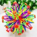 New Baby Дети Toys! смешно Выдвижной Сменные Магия Мяч Рукой Поймать Обучение Красочный Цветок Мяч Крытый и Открытый Играть В Мяч