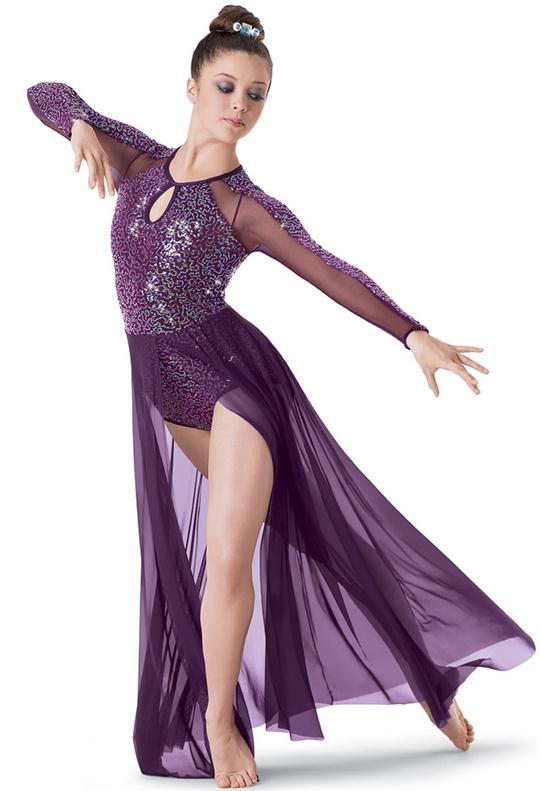 2018 danse de Ballet moderne adulte pour enfants porter une robe à manches longues ballet pour les femmes danse costume justaucorps de gymnastique pour les filles