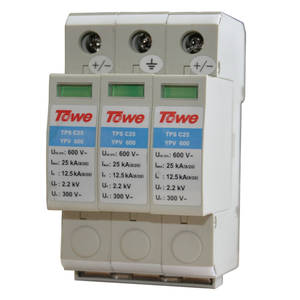 TOWE Thunder-Protector Ap-C25 YPV600 3-Modulus 600V Power-Class Pv-Systems Imax:25ka-Up:2.2v