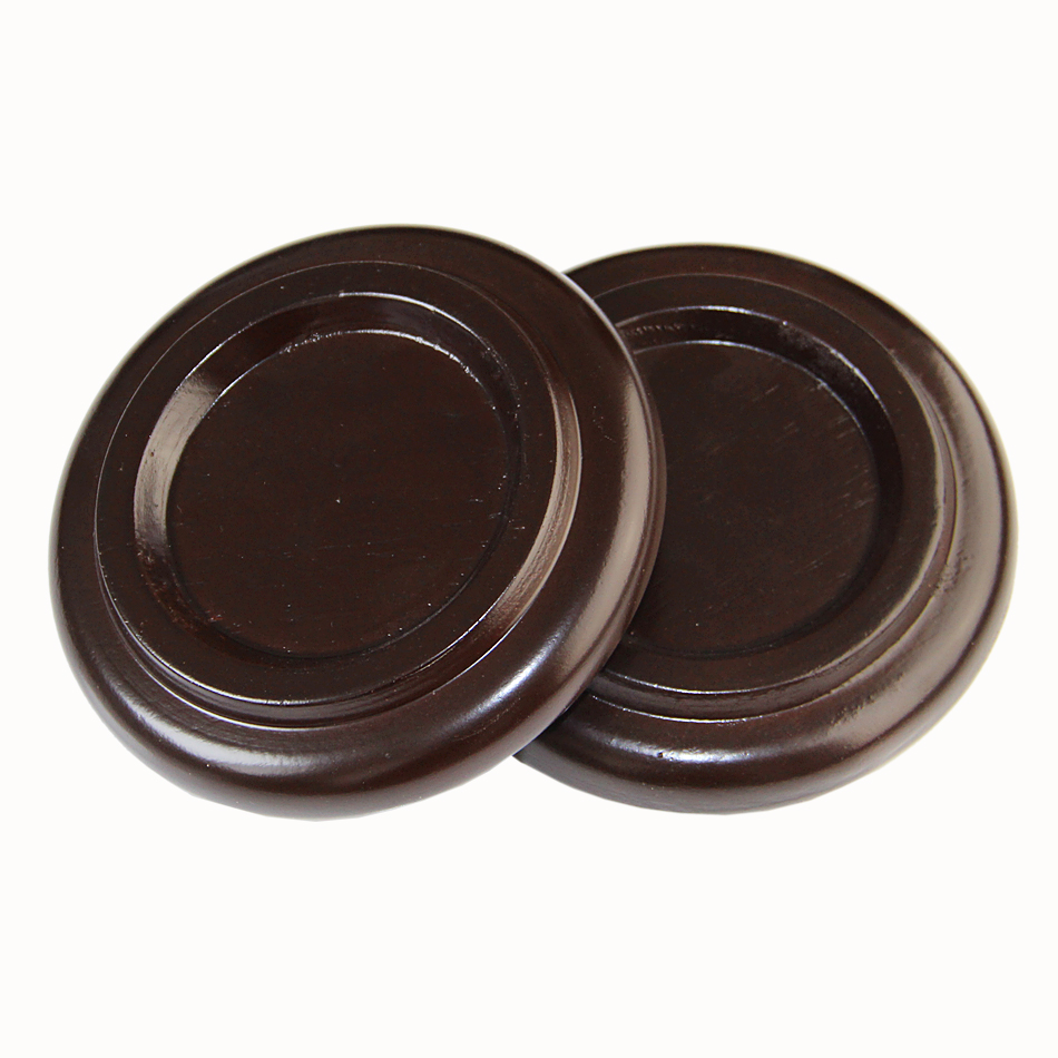 Piano Mats / Dark Brown Solid Wood Acrylic Caster Cups Grand Piano Pads Set 3pcs/set replacement alto saxophone leather pads set brown 26 pcs 1 set