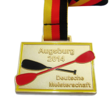 Zinc Alloy Augsburg Deutsche  Metal Gold Medal with Neck Ribbon for Promotion Sale k200179
