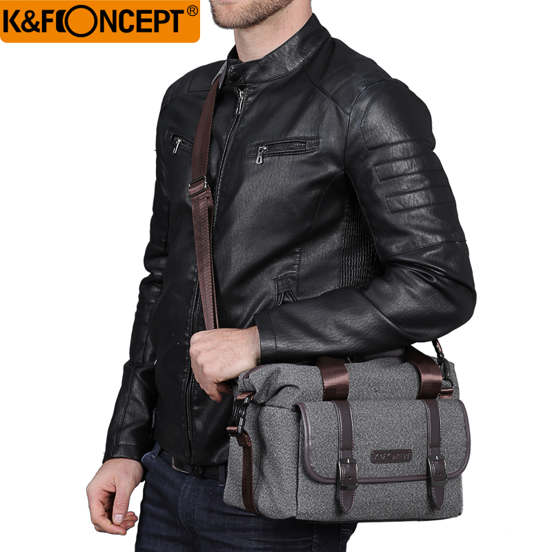 New Arrival K&F CONCEPT Single Shoulder Camera Bag Waterproof Shockproof Travel Photo Bags Leisure Package For Canon Nikon DSLR