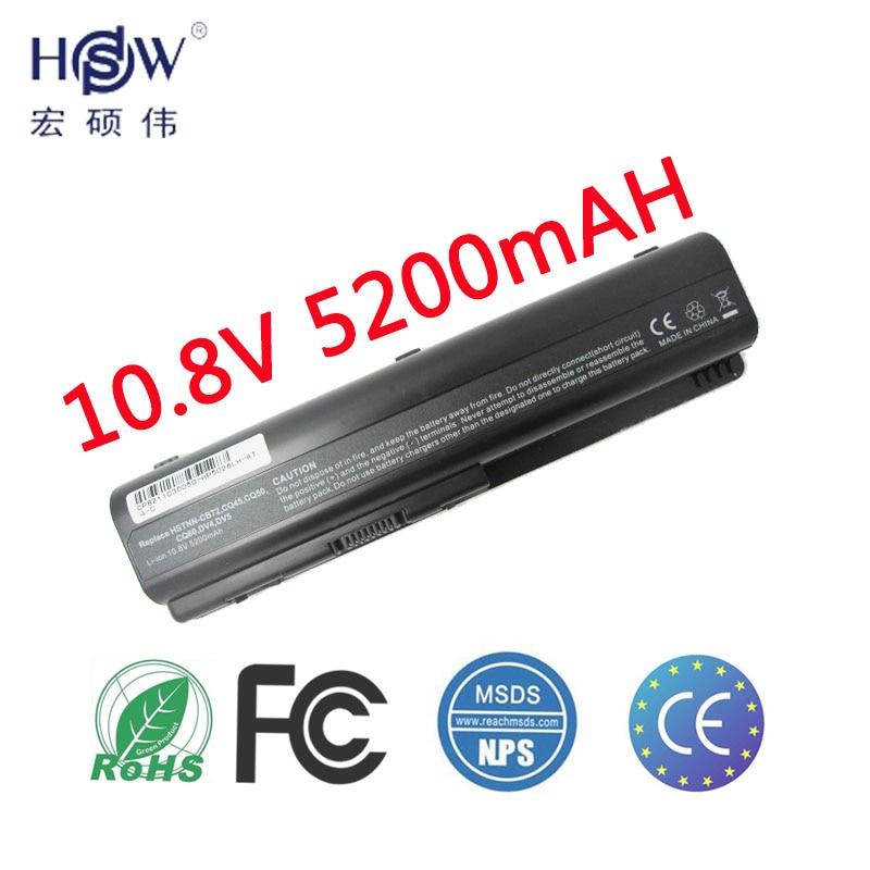 HSW 5200mah battery for Compaq Presario CQ50 CQ71 CQ70 CQ61 CQ60 CQ45 CQ41 CQ40 For HP Pavilion DV4 DV5 DV6 DV6T G50 G61 bateria lidy pa 1650 02hc 65w 3 5a ac power adapter for hp compaq cq35 cq40 cq45 7 4 x 5 0mm