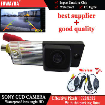 FUWAYDA Wireless For SONY CCD Car Rear View Reverse Back UP DVD GPS Navigation Kits CAMERA for Kia Cerato KIA CERATO WATERPROOF image