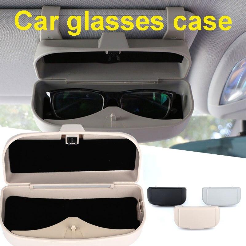 Vehemo Cars солнцезащитные очки коробка для хранения авто запчасти автомобильные очки коробка Солнцезащитная доска очки коробка для хранения очков держатель для карт